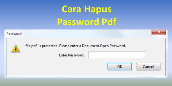Cara Hapus Password Pdf