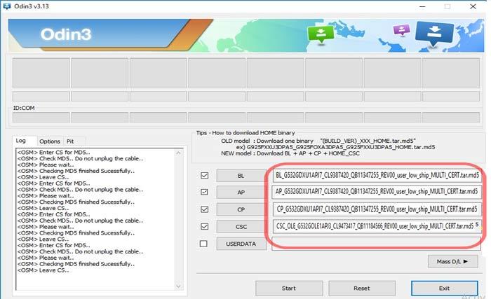 Cara Flash Samsung J2 Prime SM-G532G dengan ODIN