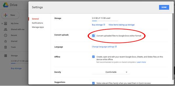 Setting Google Drive