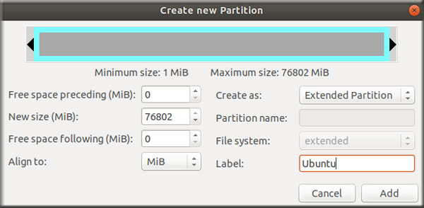 Extended Partition Gparted