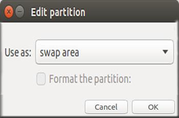 Partition Swap Area