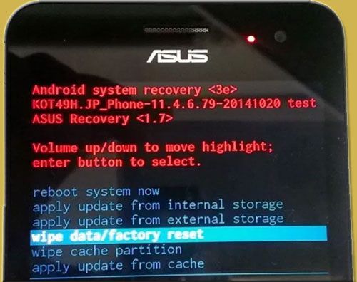 Recovery mode Asus Zenfone 5