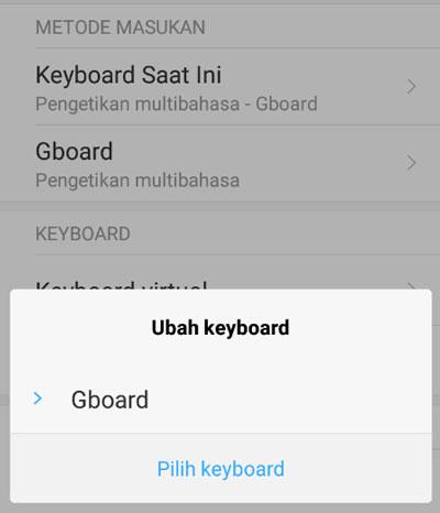 Ubah Keyboard