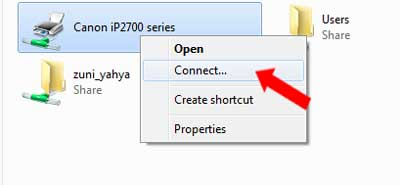Connect Printer Sharing