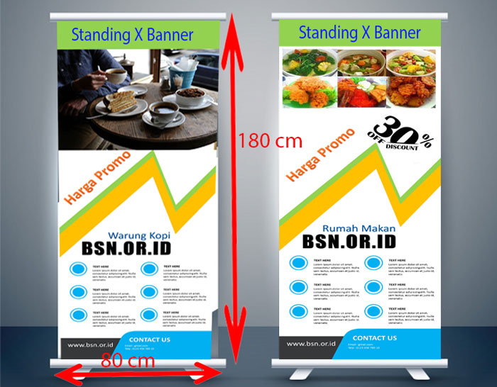 Contoh Standing X Banner