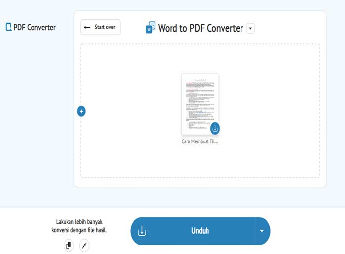 Memakai Website Converter PDF