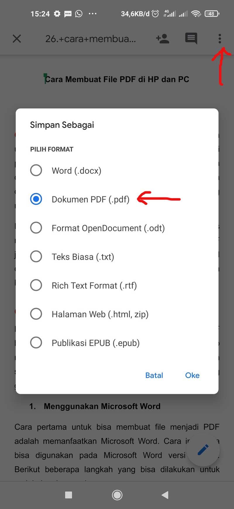 PDF Memanfaatkan Google Docs Android