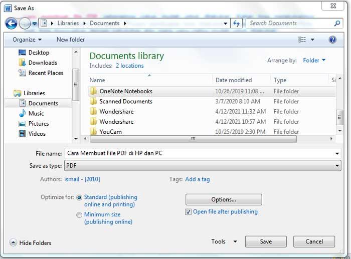 PDF Menggunakan Microsoft Word