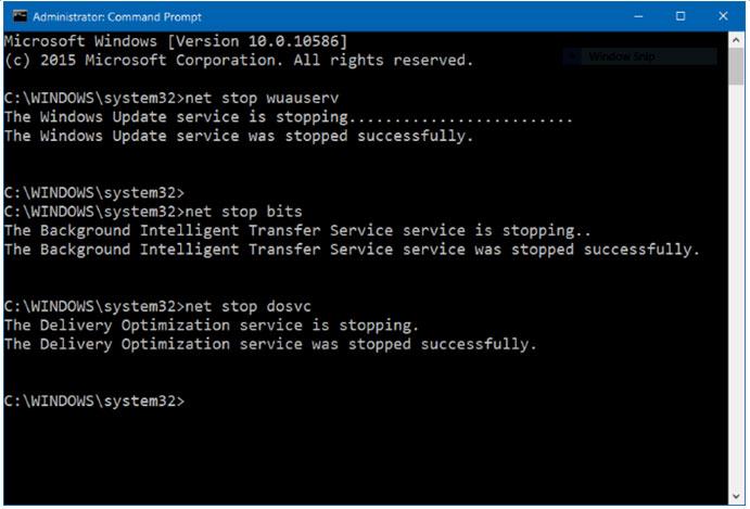 Stop update win 10 Memakai Command Prompt